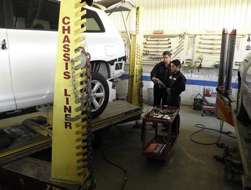 auto body repair frame straightening